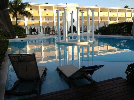 The Royal Suites Turquesa by Palladium:                                     From our swim up room private patio