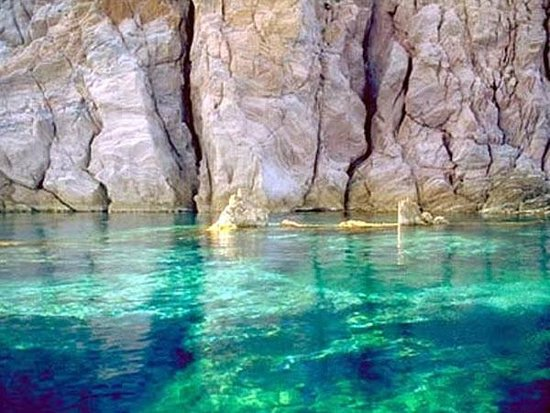 Isola Vulcano, Italien:                                     clear water