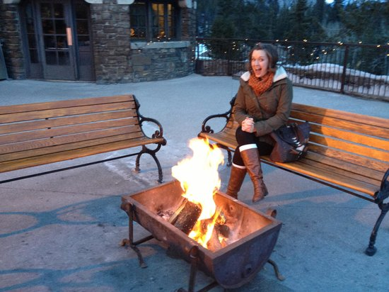 Waldhaus Restaurant:                                     My beautiful wife next to the fire at Waldhaus Pub