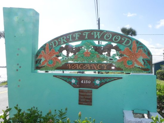 Driftwood Motel:                   Can't miss the beautiful sign on NE Indian River Dr.