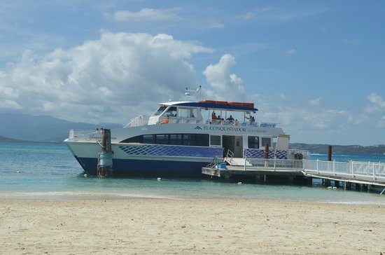 Ferry to take you to the beach on Palomino Island - Picture