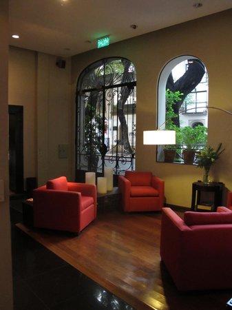BoBo Hotel:                   lounge area near reception