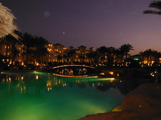 Tropicana Azure Club:                   lovely pool at night