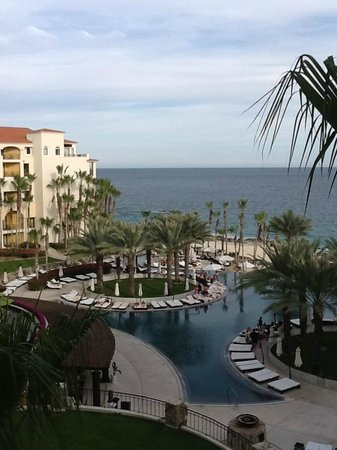 Hilton Los Cabos Beach & Golf Resort:                   View from an east wing room, facing inward.