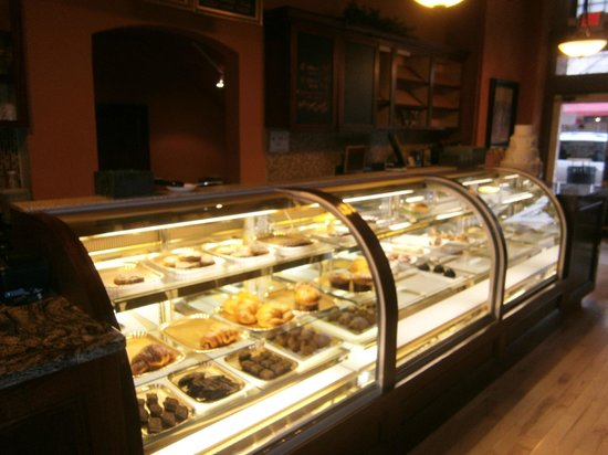 Karen Donatelli Bakery and Cafe:                   Lovely case of Pastries & other treats.