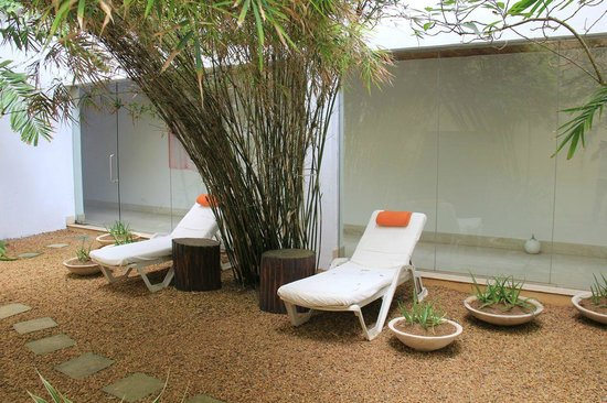 The Fortress Resort & Spa:                   chill zone...the spa garden...