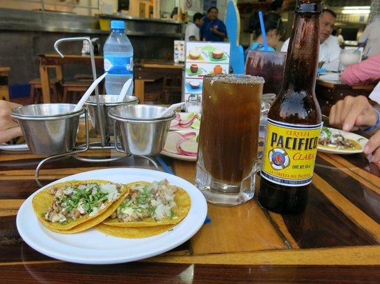 Tacos Rigo :                   Michelada and tacos
