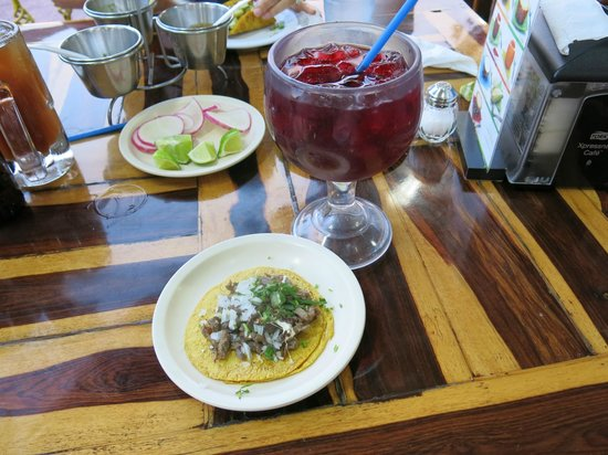 Tacos Rigo :                   Tacos and Jamaica drink
