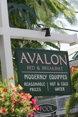 Avalon Bed and Breakfast: Our Historic Sign