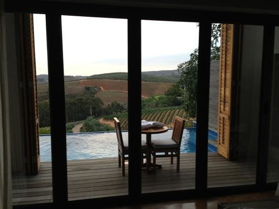 Delaire Graff Estate - Lodges and Spa:                   view from the bedroom