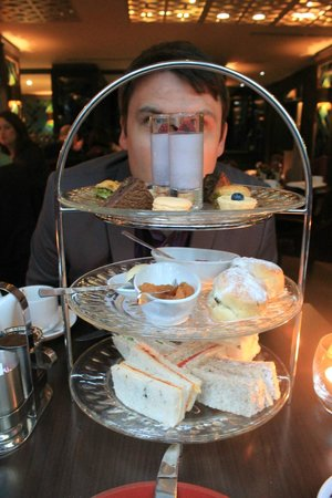 The May Fair Hotel:                   Afternoon tea.