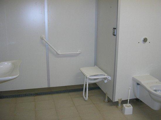 Villeneuve-les-Genêts, France : sanitaire pour personne à mobilité réduite