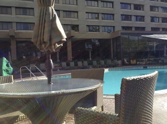 Long Beach Marriott:                   Outdoor pool area, there is an indoor pool as well