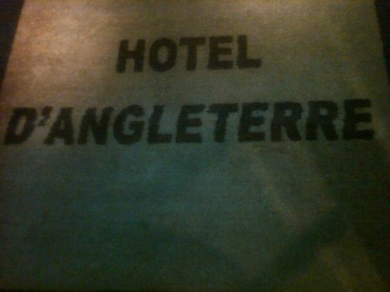Hotel d'Angleterre, Saint Germain des Pres:                   Welcome mat