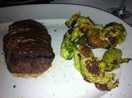 Mastro's City Hall:                   petite filet with some brussel sprouts. DELICIOUS