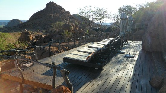 Mowani Mountain Camp:                   Pool area                 