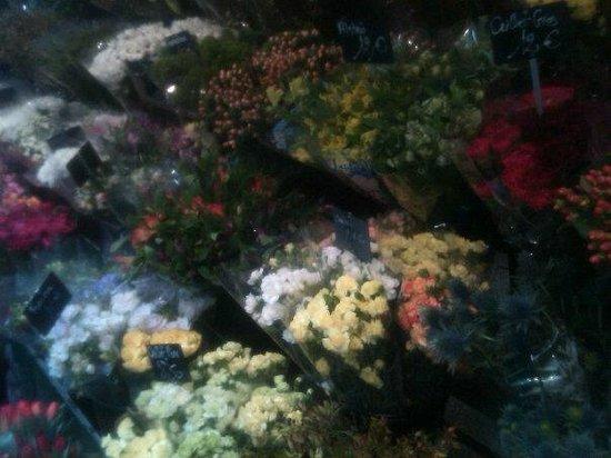 Marché rue de Buci:                   Aquarelle - Florist rue de Buci