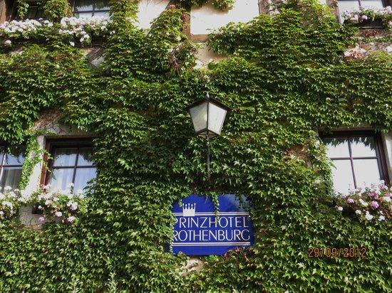 Prinzhotel Rothenburg:                                     Entrée principale du Prinzhôtel
