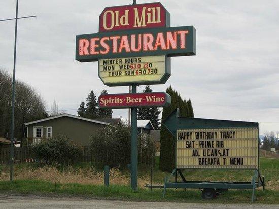 The Wild Blueberry Restaurant:                   Signage
