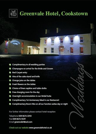 Greenvale Hotel: Weddings