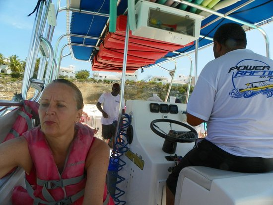 Power Rafting by Out Island Charters:                   Captain Pierre and crew