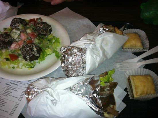Jaffa Cafe :                   Gyro, Falafel App and Baklava