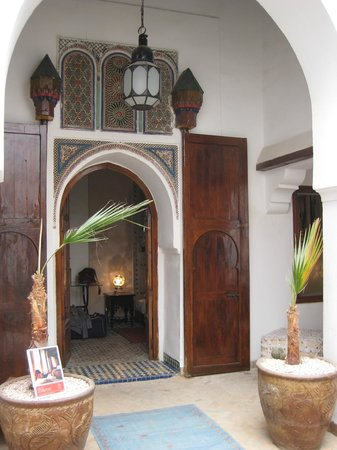 Riad Nora :                   Entrance to our room