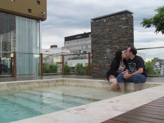 Aspen Square: Terraza
