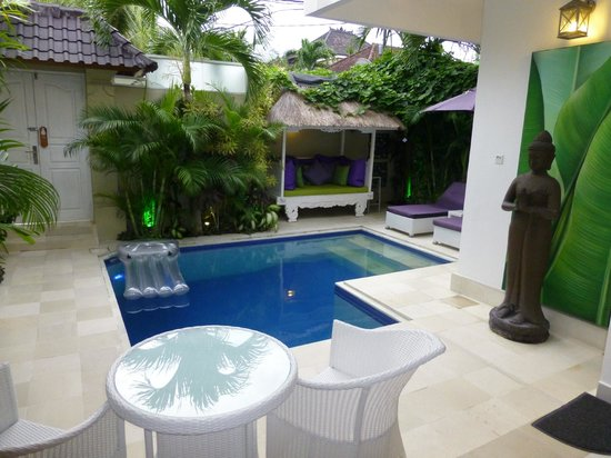 Bermimpi Bali Villas:                   Pool from Living Area