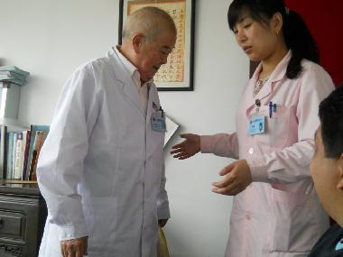 The doctor where we paid $2000 worth of herbal medicines
