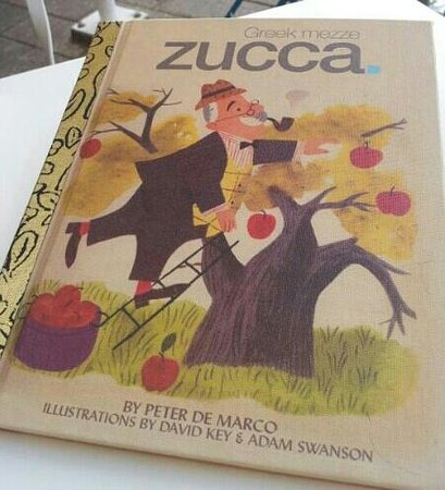 Zucca:                   Little golden book menu was very cute