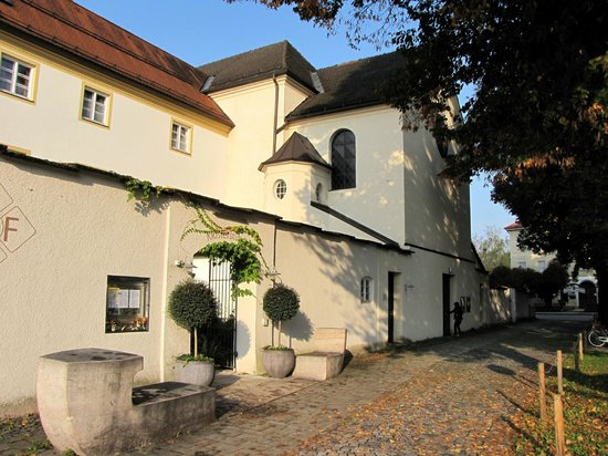 Kapuzinerhof:                                     Front of hotel and adjacent church