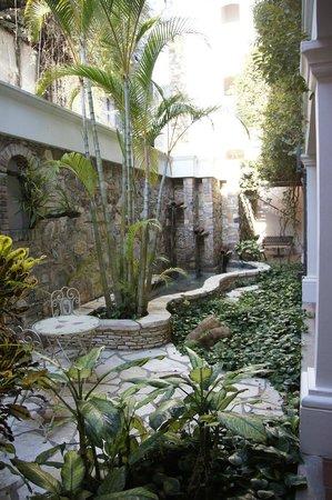Hotel Marina Copan: open hallway