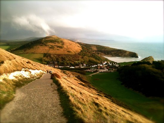 Bindon Bottom B&B: Just a 5 minute walk from Bindon Bottom, then 10 minutes uphill for this view of Lulworth Cove