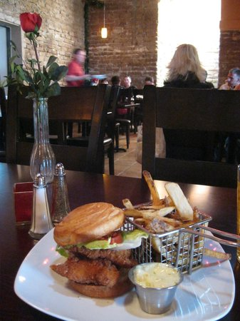 Adobe Rose Restaurant :                   Tender Pecan crusted Catfish with fresh cut fries!