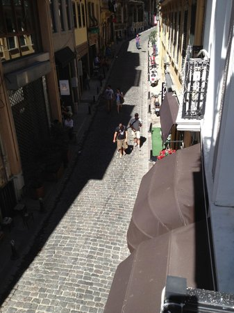 Galata Suite Home: view down to the street