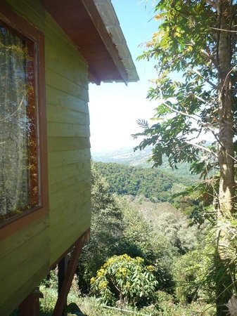 Paraiso Quetzal Lodge: The picture window looks over that view