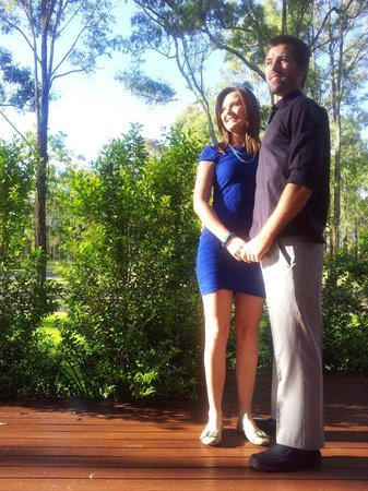 Deja Vu Estate:                   My husband & I on the deck, ready for a night of fine dining.The surrounds are