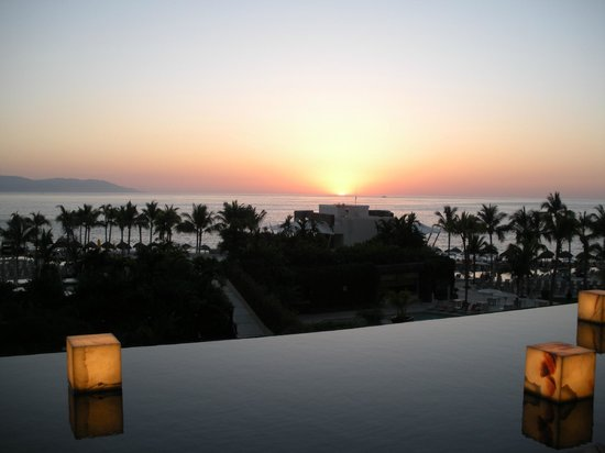 Now Amber Puerto Vallarta:                   Sunset from Lobby