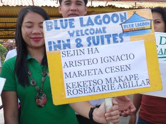 Blue Lagoon Inn & Suites: waiting for us