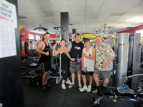 Train Station Fitness Club:                   Working out with my family at The Train Station