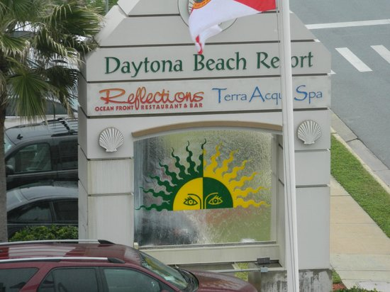 Daytona Beach Resort and Conference Center - TEMPORARILY CLOSED:                   Hotel sign out front.