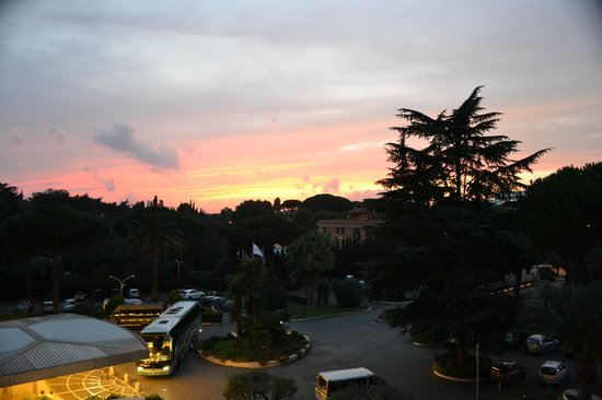 Crowne Plaza Rome - St. Peter's:                   View from room balcony