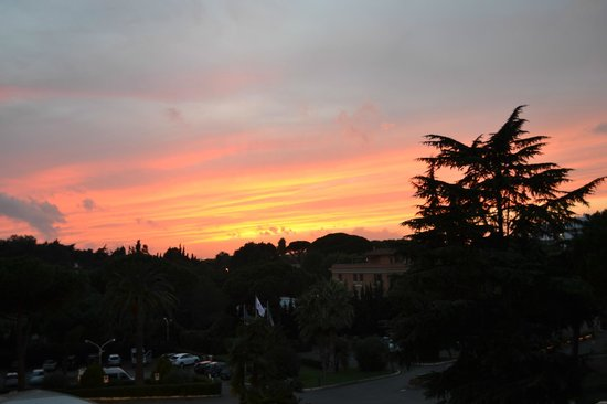 Crowne Plaza Rome - St. Peter's:                   Sunset view from room balcony