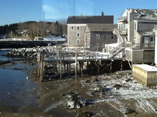 Inn on the Harbor:                   What a difference a day makes even at low tide!