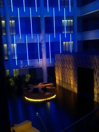 Hotel Avasa:                   3rd Flr Atrium at night