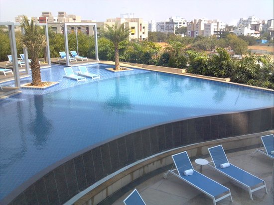 Hotel Avasa:                   View of pool from 4th Floor