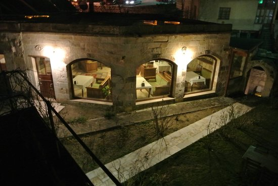 Dervish Cave House:                                                       Restaurant at night