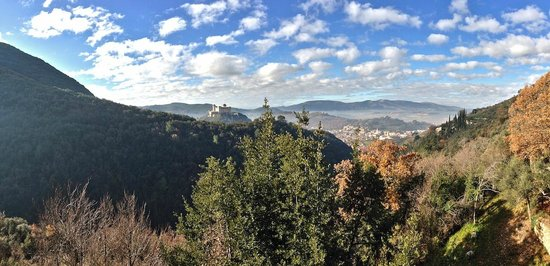 Antico Monastero Santa Maria Inter Angelos:                   Panorama di Spoleto visto dal Monastero