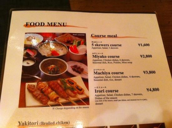 Teppanryori Mimitei:                                     English menu - a good recommendation